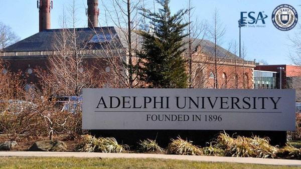Cổng trường đại học Adelphi