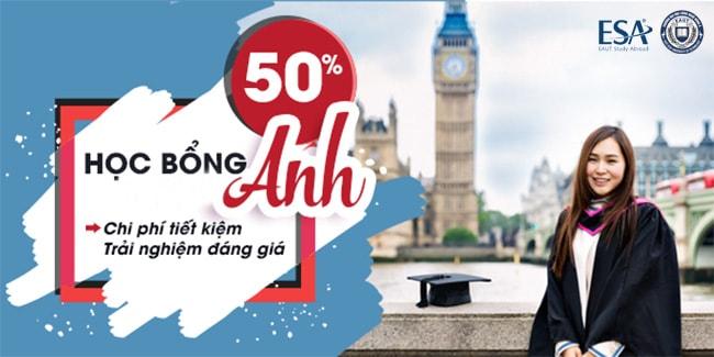 Liên hệ ESA để nhận học bổng du học Anh Quốc