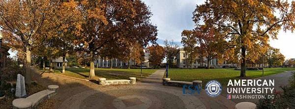 Khuôn viên trường American University đẹp như trong mơ
